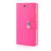MOONCASE Leather Side Flip Wallet Card Slot Pouch Stand Shell Back ЧЕХОЛДЛЯ Samsung Galaxy Note 4 N9100 Hot pink enkay quick sand style protective plastic back case for samsung galaxy note 4 n9100 blown