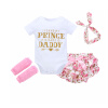 NewBorn Детская одежда Детская одежда для младенцев Комплект комбинезона для малышей Cute Toddler Baby Girl комплекты нательные для малышей я большой комплект