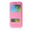 MOONCASE View Window High grade Leather Side Flip Pouch Stand Shell Back ЧЕХОЛ ДЛЯ Samsung Galaxy E5 / E500 Pink mooncase view window high grade leather side flip pouch stand shell back чехол для samsung galaxy e5 e500 hot pink