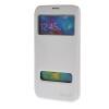 MOONCASE Samsung Galaxy S5 I9600 чехол для View Slim Leather Flip Pouch Bracket Back Cover White для samsung galaxy i9600 s5 g900h жилищем задней части средней рамки шатона объектива камеры