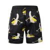 Мужские брюки большого размера 2018 новые летние плавки мужские брюки 3D фрукты банан печати случайные пляжные брюки мужчины