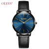 Ультра тонкие кварцевые наручные часы OLEVS Luxury Brand Men Watch Кожаный ремешок Casual Простые часы erkek kol saati relojes hombre 2018 top luxury blue wood watches unique wooden watch men watch fashion wood men s watch clock saat erkek kol saati reloj hombre