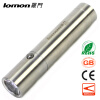 Portable Handy LED Flashlight 18650 Battery Rechargeable Torch + Charger Stainless Steel flashlight Outdoor Camping Light