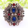 Vintage регулируемый размер смолы браслеты манжеты женщин браслеты турецкий античный золото цвет Bangle индийские ретро ювелирные браслеты