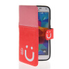 MOONCASE Leather Side Flip Wallet Card Slot Pouch Stand Shell Back ЧЕХОЛДЛЯ Samsung Galaxy S5 I9600 Pink Red mooncase soft silicone gel side flip pouch hard shell back чехолдля samsung galaxy s6 grey