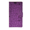 MOONCASE Cute Little Witch Leather Side Flip Wallet Card Holder Stand Pouch ЧЕХОЛ ДЛЯ Huawei Ascend Y625 Purple