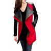CT&HF Мода Осень Зима Пальто Женщины Длинные рукава PU и шерсть Верхняя одежда