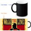 Johnny Cash Morphing Mug Color Change Tea Cup Magic Milk Coffee Mug виниловая пластинка johnny cash the best of the johnny cash tv show 1969 1971