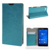MOONCASE ЧЕХОЛ ДЛЯ Sony Xperia Z3 Compact ( Z3 Mini ) Leather Wallet Flip Card Holder Bracket Back Pouch Blue 01 mooncase sony xperia z3 compact z3 mini чехол для flip leather wallet card holder bracket back pouch red