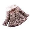 Девушка пушистый леопарда теплый флис пальто младенца Мех ватнике детский зимний комбинезон Дети и пиджаки