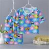 2018 детский хлопок и шелковый костюм, новый летний костюм для кондиционирования воздуха, мальчики и девочки, пижамы с коротким рукавом, детская одежда для детей. костюм зловещего шута детский 38 40