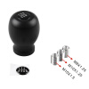 Ryanstar JDM Su baru WRX Impreza STi 5MT 6MT Shift Ручка momo anatomic short black leather gear shifter shift knob