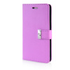 MOONCASE Leather Side Flip Wallet Card Slot Pouch Stand Shell Back ЧЕХОЛ ДЛЯ Samsung Galaxy Note 4 N9100 Purple цена