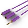 Шэн (Shengwei) AC-3003F 3,5 один пункт два стерео аудио кабель линия 30см AUX пара одна точка расширения два аудио гарнитура адаптер Кабель 1 мин 2 кабель 3 5 на два тюльпана