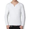 новоприбывшие мужчины футболки моды в 2016 году новых людей случайных футболки твердых хлопковые рубашки с длинными рукавами 4 цвета и размера 5xl