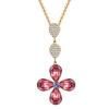 ПОДАРОК ЛЮБВИ (четырехлистный клевер) Ожерелье из ожерелья с кристаллами Сваровски, Италия Дизайнер koto 5075692 4 24 освежитель воздуха четырехлистный клевер 4 шт