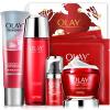 Olay Olay Fresh Essence Firming Gift Set 6шт (красная бутылочная крем 50 г + жидкая вода 150 мл + очищающее средство 120 г + крем для глаз 15 мл + маска 2шт) аюрведическое средство от простуды и ангины dabur madhuvaani honitus 150 г