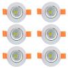 6Pcs / lot 3W Dimmable led downlight COB потолочный свет привело белый свет 110V 220V Алюминиевый потолочный светильник