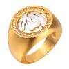 U7 Золотые кольца для мужчин Ювелирные изделия с роскошными циркония 18K позолоченный Недвижимость Нью-Золото Аллах исламских ювелирных изделий обручальные кольца Ring