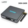 iLEPO BB2 Pro Android 7.1 Smart TV Box Amlogic S912 64 bit Quad Core 4K WiFi 2.4GHz 1000M LAN Set-top Media Player Box