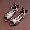 Девушка сандалии 2018 летом новые дети Принцесса обувь лук открытые пальцы ноги Танцевальная обувь Корейские дети пляжная обувь