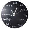 Творческая математика Blackboard Clock Black Powder Coated Metal calypso basics 1 5 quart powder coated colander turquoise