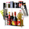 Фото Baig BAYCO многофункциональный стеллаж для хранения двойной графинчик кухня стеллажи BX3960