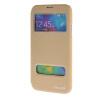 MOONCASE Samsung Galaxy S5 чехол для View Slim Leather Flip Pouch Bracket Back Cover Gold стоимость