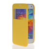 MOONCASE Ultra Thin Leather Side Flip Pouch Hard board Shell Back ЧЕХОЛ ДЛЯ Samsung Galaxy S5 Mini Yellow mooncase ultra thin leather side flip pouch hard board shell back чехол для samsung galaxy s5 mini black