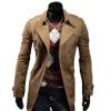 Zogaa новые мужчины, ветер пальто двубортный лацкан слим моды падение сквозь ветер