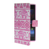 MOONCASE Pattern Style Leather Side Flip Wallet Card Slot Pouch Stand Shell Back ЧЕХОЛДЛЯ Sony Xperia Z1 L39h mooncase classic cross pattern leather side flip wallet card pouch stand soft shell back чехол для sony xperia e1 hot pink