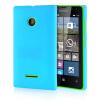 MOONCASE Hard Rubberized Rubber Coating Devise Back ЧЕХОЛДЛЯ Nokia Lumia 532 Azure чехол для lumia 532 nokia cp 634 orange
