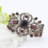 Глянцевый турецкий симметричный цветок смолы браслет манжеты женщин Vintage полые смолы браслет ювелирные изделия античный золотой