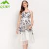 2018 Летние женские платья вечерние вечерние платья сплошной цвет oraganza шелковые вышивки цветочные Высокое качество плюс размеры клубная мода b вечерние платья в старом осколе