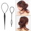 Хвостик Creator Plastic Loop Стайлинг Инструменты Черный Шиворот хвостик волос кос Черный