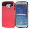 MOONCASE ЧЕХОЛДЛЯ Samsung Galaxy S6 Edge Soft Silicone Gel TPU Skin With Card Holder Protective Red аксессуар чехол накладка samsung g925f galaxy s6 edge ipapai флора yellow red