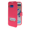 все цены на MOONCASE View Window Leather Side Flip Pouch Hard board Shell Back чехол для Samsung Galaxy Note 2 N7100 Hot pink