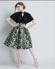Lovaru ™ 2015 осенью новый женщина в платье печатных талии Тонкий пачка юбки женщин женские юбки в розницу