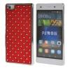 MOONCASE Футляр Роскошные Chrome горный хрусталь Bling Звезда задняя крышка чехол для Huawei Ascend P8 Lite красный