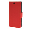 MOONCASE Simple Leather Flip Wallet Card Slot Stand Back чехол для Sony Xperia Z4 Compact  Mini  Red