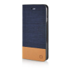 MOONCASE Canvas Design Leather Side Flip Wallet Stand Shell Back ЧЕХОЛ ДЛЯ Apple iPhone 6 Plus ( 5.5 inch ) Dark Blue leather wallet stand shell for iphone 6s plus 6 plus do not touch my phone