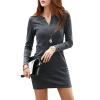 CT&HF Женщины Сексуальная мода платье Темперамент Сладкий Pure Color с длинным рукавом платье Pure Color с длинным рукавом платье корейских женщин платье гипюровое платье