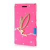 MOONCASE Luxury Flower Crystal Leather Side Flip Wallet Pouch ЧЕХОЛДЛЯ Nokia Lumia 925 mooncase leather side flip wallet pouch чехолдля nokia lumia 925 page 2 page 4
