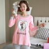 Бейджи Ронг весной и осенью 3883 беременных женщин месяц службы Буру Yi кормления одежду для беременных женщин после родов у женщин хлопка пижамы костюм спортивный костюм Цветочные L для беременных диета