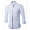 zogaa контраст цвета чистого хлопка моды длинные рукава рубашки casual слим мужчин мужские длинные рукава рубашки хлопка