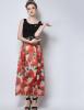 Lovaru ™Шифон юбки станции Европа 2015 лето новый стиль моды большой юбка платье lovaru ™органза юбка неправильную станции европы 2015 летом новые женские юбки печати темперамент