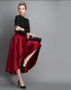 Lovaru ™ 2015 Осенью новые Женщины благородный цветом негабаритных юбка бюст юбка нерегулярных юбки