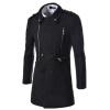 CT&HF Мужчины Отдых моды пальто средней длины пальто молния дизайн Элегантный Темперамент пальто отворотом Pure Color куртка с длинным рукавом пальто контракту