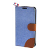 MOONCASE Alcatel One Touch POP C5 , Leather Flip Card Holder Pouch Stand Back ЧЕХОЛ ДЛЯ Alcatel One Touch POP C5 Blue euroline для alcatel one touch pixi 3 4 5 4027d blue