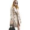BURDULLY 2018 Женская элегантная европейская и американская мода Модная тряпочка Зимняя повседневная тонкая двойная кожаная одежда с длинным рукавом